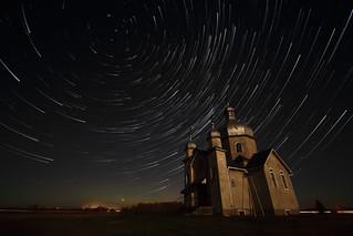 Comet Effect Star Trails at Ukrainian Orthodox Church