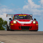 No 58 Wright Motorsports Porsche 911 GT3 R - head-on