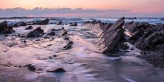 Jagged Rocks of Dollar Cove (Andrew Hocking Photography) Tags: dollarcove gunwalloe cove beach cornwall coast sunset jagged rocks longexposure sansalvador pastel sea ocean seascape landscape seaside uk england nationaltrust colour