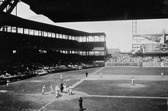 1947 (Crawford Brian) Tags: st louis browns baseball yankees stlouis newyork sportsmanspark stadium grass field players scoreboard sign mlb majorleague 1947 misourri