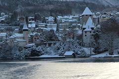 Schloss Spiez ( Baujahr Ursprung 10. Jahrhundert - château castello castle ) im Winter mit Schnee am Thunersee in Spiez im Berner Oberland im Kanton Bern der Schweiz (chrchr_75) Tags: albumschlossspiez schlossspiez spiez kantonbern berner oberland berneroberland schloss château castle castello schweiz suisse switzerland svizzera suissa swiss christoph hurni chrchr chrchr75 chrigu chriguhurni chriguhurnibluemailch dezember 2017 dezember2017 albumzzz201712dezember kanton bern thunersee alpensee see lake lac sø järvi lago 湖 albumthunersee
