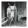 Home Butchering (for Fun and Profit) (Goran Patlejch) Tags: butcher butchering home found pig swine meat hug hugging knife czechoslovakia 1960s 60s