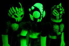 RXH Glow. (Nicholas Fung) Tags: realxhead real head realhead rxh sofubi sofvi toy toys glow dark bootlegman chaosman pheyaos glyos 茶色いブラウン リアルヘッド kaiju 真頭玩具 ソフビ japanese japan soft vinyl softvinyl sofuvi japanesetoys toypizza vinyltoys