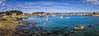 Panorama Petit Traouïero (Bobzogluax) Tags: france bretagne brittany sea seafront seascape rocks rocher pierre bateau boat sonydscrx100 sony niksoftware lightroom cotesdarmor couleur color photoshop panorama paysage ciel sky baie eau water plage beach mer océan