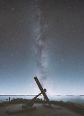 Kotka (petrisalonen) Tags: space milkyway astrophotography blue finland kotka nightphotography night longexposure stars nightsky andromeda ladscape sea