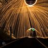 Steelwool fun on the track (ch9x) Tags: lightpainting art ch9x artphotographie steelwool beleuchtung lichtbilder tannenberg instagram schienen kunst tassi wald stahlwolle eisenbahn canon5dmarkiv artfotografie canon5div regenschirm lichtmalerei