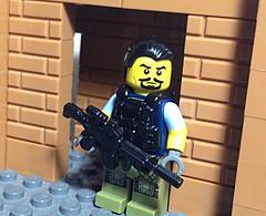 Drug lord (MocsAndLotsOfMinifigs) Tags: lego legowar legosoldier legopolice legomodernwarfare legosniper legoswat legowarfare brickarms brickmania