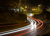 Car lights (KJ.grabowski) Tags: lights cars lightpainting route turning red atumn fall city citylights enening dark shadow canon