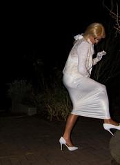 Pretty Tight (chantal_fouet) Tags: tv cd tg stockings nylon sheer lycra spandex outdoor