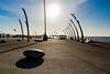 BLACKPOOL-9419-HDR.jpg (BarrySmith1950) Tags: stone art sculpture seats sun sea shadows flickrunitedaward seafront intothesun steel