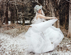 Snow Bride (nancy_mic) Tags: nancymic nancymicheals snow runaway white woods oregon portland beautiful beautifulgirl portlandphotographer fantasywedding escapewithme fairytale viking