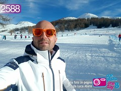 Foto in Pegno n° 2588 (Luca Abete ONEphotoONEday) Tags: 2588 neve snow white sestriere selfie alpi sunglasses 31 dicembre 2017 last day year