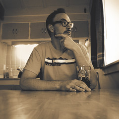 365 : 365 : VI (Randomographer) Tags: 365 2017 new year self portrait selfie sepia tone human man contemplation sitting table drink cup morning home thought reflection meditation consideration rumination deliberation reverie introspection indoor project365 vi beer colorado