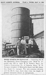Monticello Grain Begins Work on New Concrete Bins – May 1956 (RLWisegarver) Tags: piatt county history monticello illinois usa il