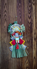 Decorations at wooden door in Japan (phuong.sg@gmail.com) Tags: art asia asian background bless buddha buddhism buddhist china chinese christmas closeup congratulatory culture decoration decorative door gold good hold japan japanese korea korean luck lunarnewyear object old oriental paper power religion religious ritual spirit symbol temple thailand tradition traditional wish wood