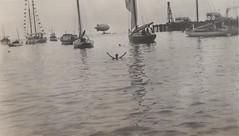Page 46, no. 2: Hildur in the bay (Derek Doran Wood) Tags: 1910s richardson catalina catalinaisland california ocean avalon harbor boats dirigible blimp airship swimming sea