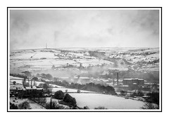 Colne Valley - Huddersfield - from the attic! (urfnick) Tags: huddersfield westyorkshire colnevalley canon eos 1300d monochrome blackandwhite bw