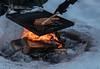 Pique-nique hivernal (sosivov) Tags: winter snow sweden fire picnic