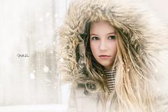 Annie (mirri_inc) Tags: portrait human people girl closeup winter snow white outdoors light beauty beautiful blur bokeh nikon 35mm