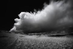 butte (greg westfall.) Tags: gregwestfall infrared 720nm ir blackandwhite bw wyoming mountain bluff mesa plateau cloud butte