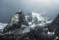 Peak Conditions (Appalachian Hiker) Tags: mountain winter snow ice weather lofoten norway wind light