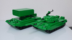 TOS-1A&T-72 (kou2000R) Tags: lego toy tank military t72 russia soviet ussr