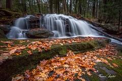 Tucker Falls (the SkyHum) Tags: waterfall longexposure landscape leaves fall water nature newhampshire newengland tuckerfalls
