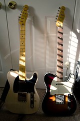 50s and 60s (clking61) Tags: telecaster squire fender 50sclassicvibe 60sclassicvibecustom classicvibe guitars guitarplayer vintageblonde classicvibecustom