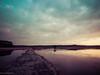 Wintermorgen am See (boehmischedoerfer) Tags: winter weg sonnenaufgang wolken morgen kälte frost kalt mraz zima rano cesta nebe jezero mraky morning cold clouds sky water landscape
