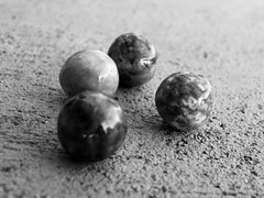 4 Circular Objex (Robert Cowlishaw (Mertonian)) Tags: robertcowlishaw winter blues melancholy canonpowershotg1xmarkiii markiii g1x powershot canon even four 4 texture concretecanvas cement concrete mertonian bypl white black blackandwhite bw