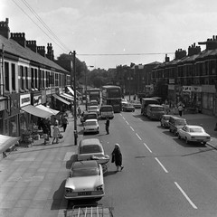 Negative No: 1968-1673 - Negatives Book Entry: 19-07-1968_Highways_Alexandra Road_View of Congestion (archivesplus) Tags: manchester england 1960s townhallphotographerscollection bedford ca bedfordca hillman imp hillmanimp