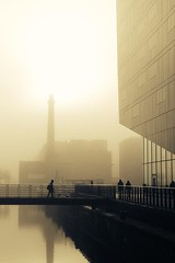 perfect moment (Towner Images) Tags: sun fog weather towner liverpool morning river mersey england merseyside illumination sepia silhouette 2georges dock passage wharf quay townerimages