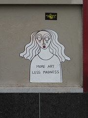 More Art Less Madness (TheMachineStops) Tags: 2017 outdoor nyc newyorkcity manhattan pasteup publicart sticker graffiti wheatpaste streetart urbanart chelsea