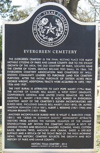 Evergreen Cemetery TxHM