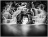 Cascade (juanmartinez81) Tags: 10stop nd ndfilter water waterfall longexposure bulb virginiawater surrey mono monochrome cascade