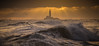Waves & Rays (ianbrodie1) Tags: stmarys lighthouse coast waves ocean rough rays sunrise cloud cloudporn leefilters sea seascape coastline sillouette island whitley bay cargo ship bird