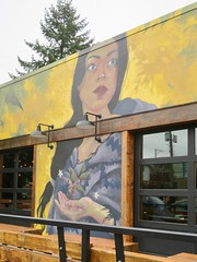 Forty Ninth Parallel Coffee Roasters (Mariko Ishikawa) Tags: canada britishcolumbia vancouver mountpleasant mural coffee cafe roaster art publicart streetart