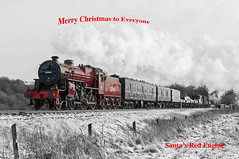 Merry Christmas (4486Merlin) Tags: 13065 eastlancsrailway england europe exlms goodstrain heritagerailways lmsfowler5mtcrab northwest railways steam transport unitedkingdom burrscountryparkbury lancashire gbr