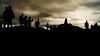 Sillouetes on Arthurs Seat (WISEBUYS21) Tags: edinburgh arthurs seat mountain hill city sillouete panorama black white people crowd wisebuys21 dark skies sky 21st july 2017 21072017