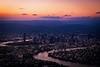 25/100x: The River City (jenniferdudley) Tags: skyscrapers skyline brisbaneriver brisbane river rivercity qantas qantasviews aerial flying skyporn sky colours dusk sunsets sunset