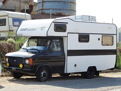 1982 Ford Transit camping car (Alessio3373) Tags: camper van furgone oldvan campingcar ford transit fordtransit fordtransitcamper targhenere blackplates