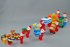 The gift that keeps on giving (brickmodified) Tags: lego christmas christmaspresents santa claus
