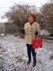 Yep, It's Snow Alright (Laurette Victoria) Tags: snow winter woman laurette purse boots leggings jacket gloves redhead