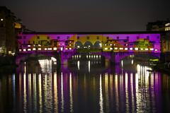 Ponte Vecchio (MaOrI1563) Tags: arno pontevecchio firenze florence flight night luci light notte ponte acqua colors colori fiume 2017 maori1563 viola