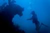 The Deep Dark (RoamingTogether) Tags: colette diving florida floridakeys johnpennekamp keylargo molassesreef pennekampstatepark scuba scubadiving watersports