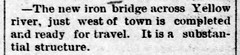 1890 - bridge west of town - Enquirer - 17 Oct 1890