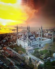 """(#sunset #droneview) 