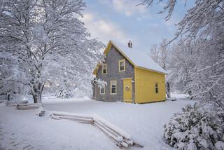First snow of the season! - Tenants Harbor Maine
