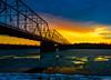 Harrisburg Walnut Street Bridge (charlie_guttendorf) Tags: bridge guttendorf hdr harrisburg nikon nikon18200mm nikond7000 susquehannariver uncoveringpa cold ice reflection scenic sky sunset susquehanna winter walnutstreetbridge cityisland nationalregisterofhistoricplaces