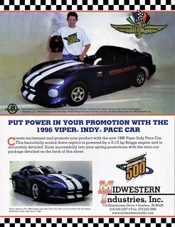 1996 Dodge Viper Indy Pace Car Replica